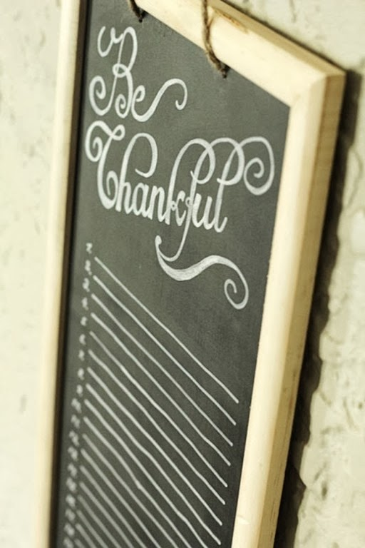 Be Thankful Chalkboard Tutorial by Tried and True