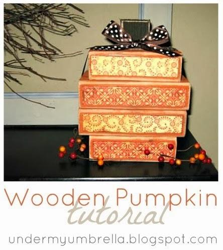 wooden pumpkin tutorial by under my umbrella