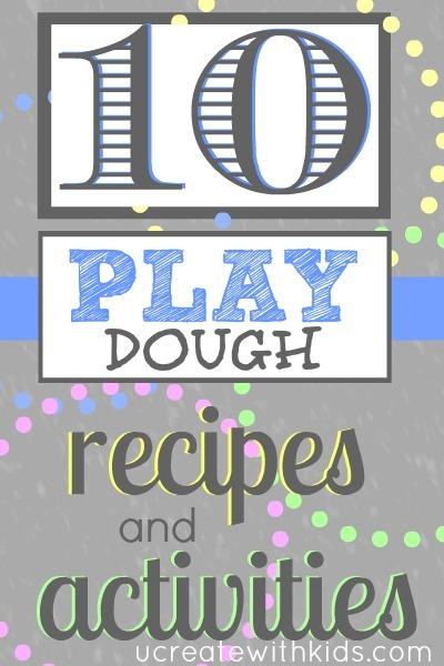 10 Play Dough Recipes and Activities at Ucreatewithkids.com