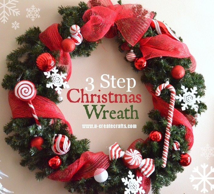 3 step christmas wreath tutorial ucreate for How to make christmas door wreaths