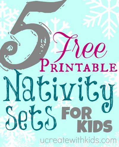 image regarding Free Printable Nativity Scene called 5 Cost-free Printable Nativity Sets for Little ones - U Produce