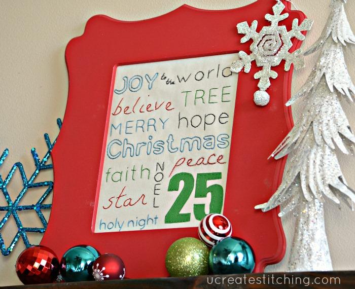 Christmas Subway Art Free Stitching Pattern
