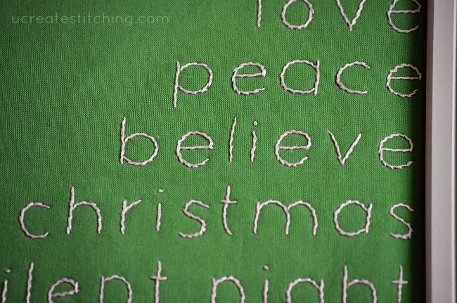 Tree Words Stitching