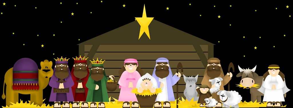 ... NATIVITY PLAY with all these lovely Nativity pieces and the story of