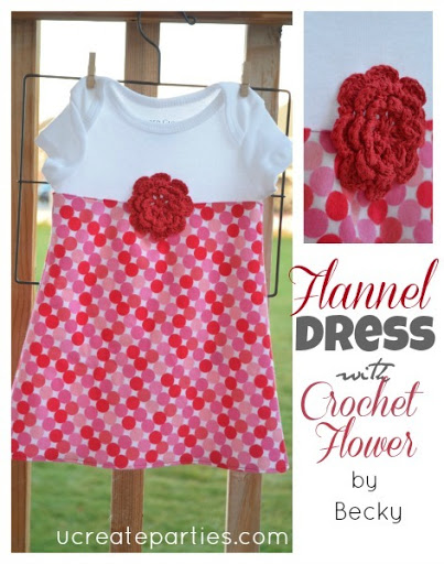 Flannel Dress Onesie u-createcrafts.com