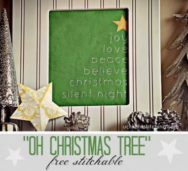 Free Stitchable: Oh Christmas Tree pattern by U Create