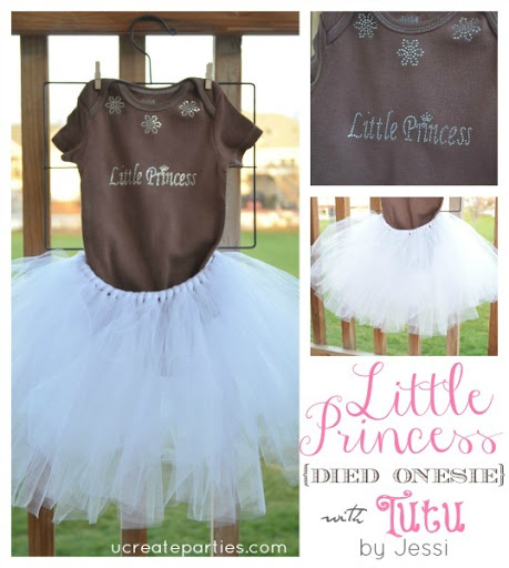 Little Princess Tutu Onesie u-createcrafts.com