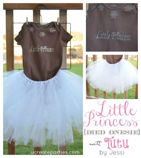 Little Princess Tutu Onesie u-createcrafts.com