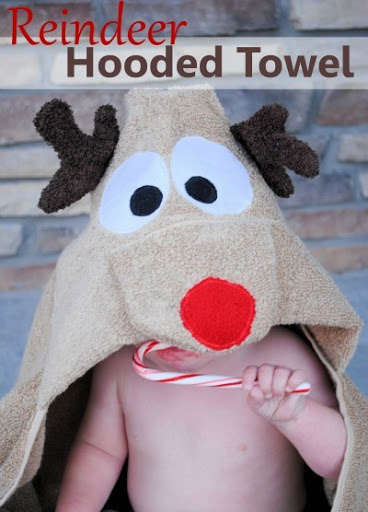 Reindeer Hooded Towel Tutorial