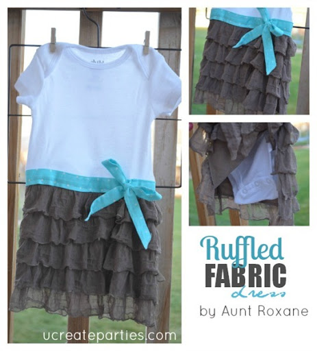 Ruffle Fabric Onesie u-createcrafts.com