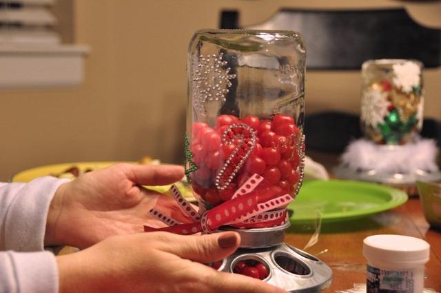 DIY Mason Jar Candy Dispenser