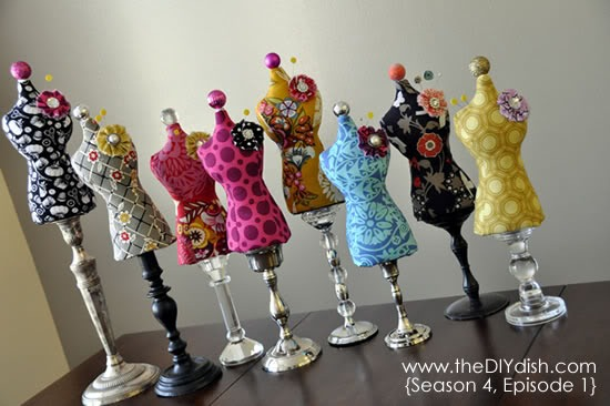 Dress Form Pincushion Tutorial