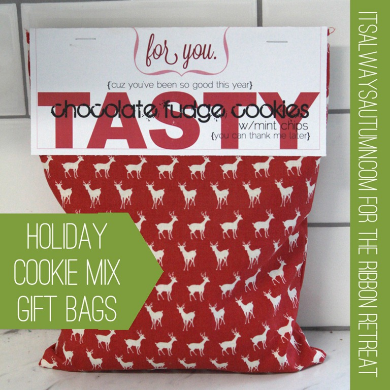 holiday cookie mix bags tutorial