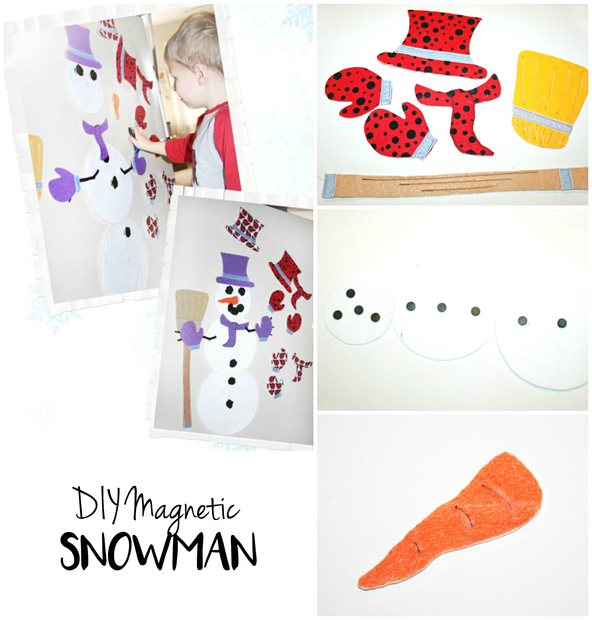 DIY Magnetic Snowman