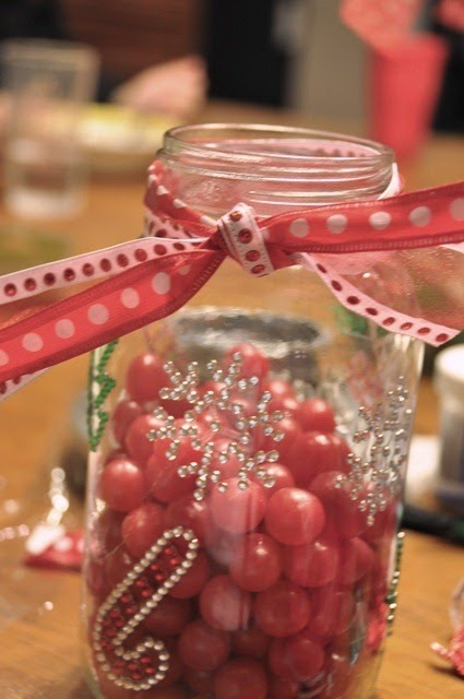 Old Fashioned Mason Jar Candy Dispenser