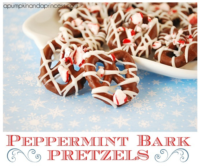 Peppermint Bark Pretzel Recipe by A Pumpkin and a Princess