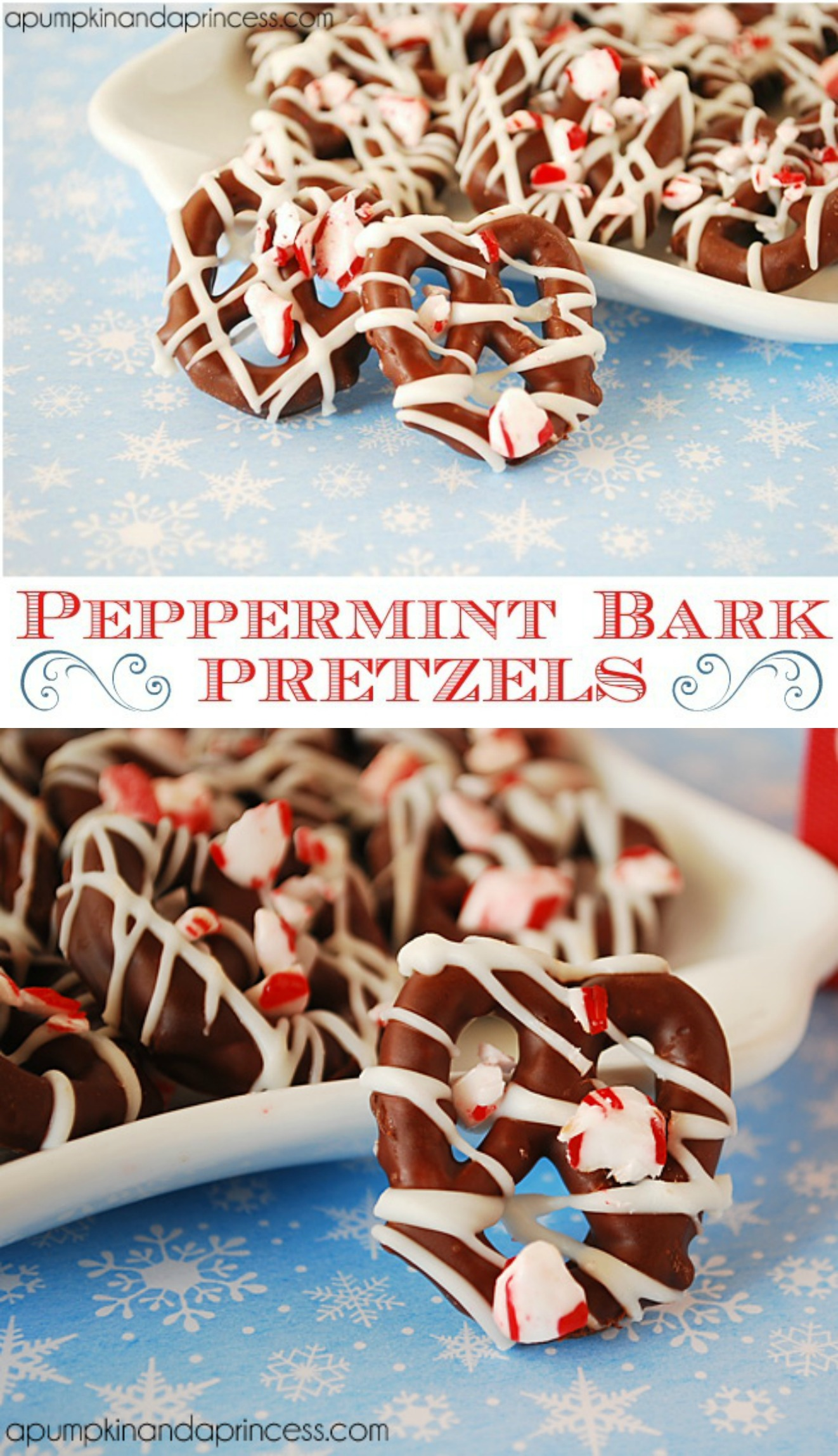 peppermint bark pretzels recipe by a pumpkin and a princess