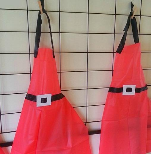 plastic tablecloth aprons