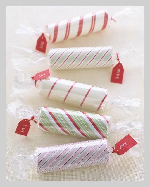 quarter candy rolls stocking stuffer at Martha Stewart