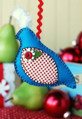 partridge ornament from retro mama
