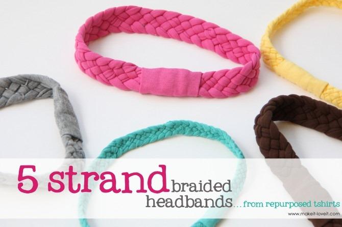 How to Make Tshirt Braided Headbands
