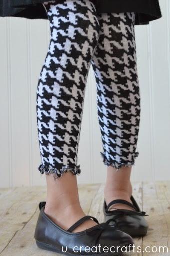 Turn Tights into Leggings 11