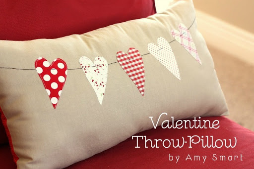 Valentine Throw Pillow Tutorial by Amy Smart