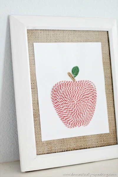 bakers twine art tutorial at domestically speaking