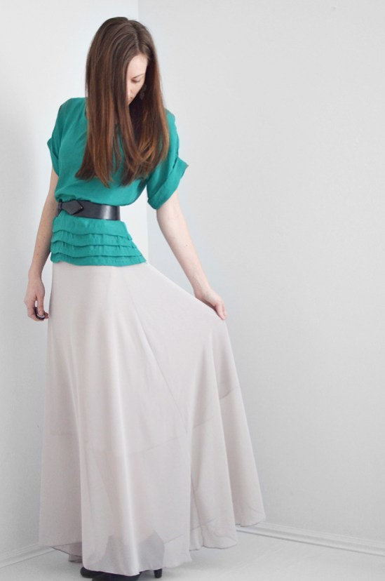 Chiffon Maxi Skirt Tutorial