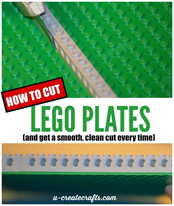 How to Cut Lego Plates for craft projects by U Create - get a clean cut everytime.