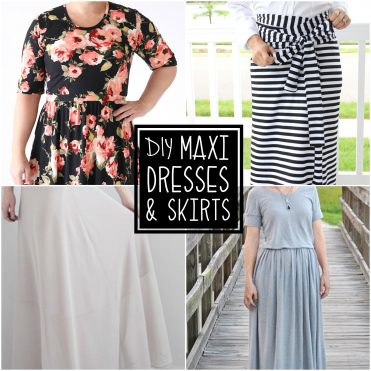TONS of gorgeous maxi dresses and skirt tutorials!