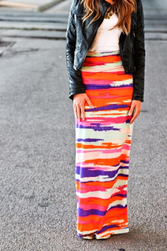 High-Waisted Maxi Skirt Tutorial