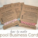 Spool Business Cards Tutorial by U Create