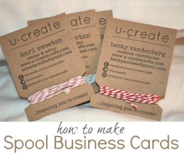 Spool Business Cards Tutorial by U Create
