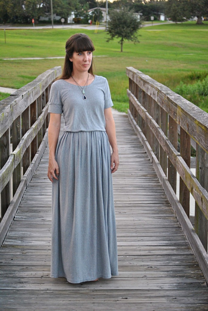 Turn a Knit Sheet into a Maxi Dress
