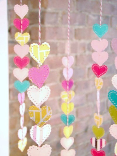 paper punch heart mobile at the haystack needle online