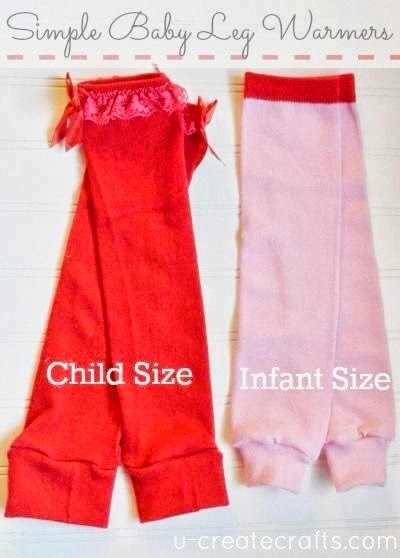 Easiest way to make baby legwarmers! u-createcrafts.com