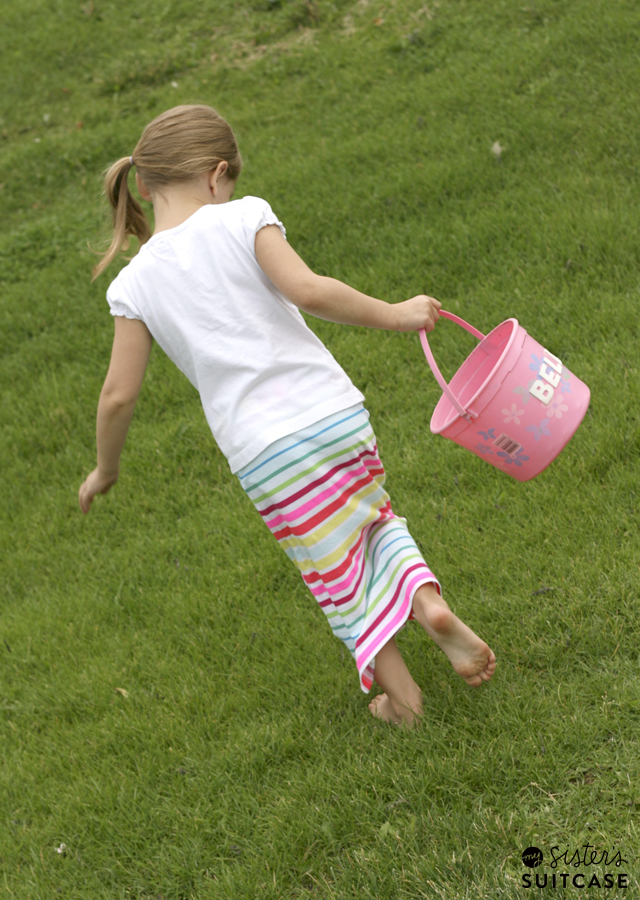Toddler Maxi Skirt Tutorial using tank tops!