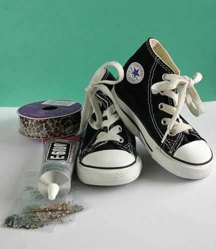 448f0e161b20 DIY Blinged Converse Shoes - U Create