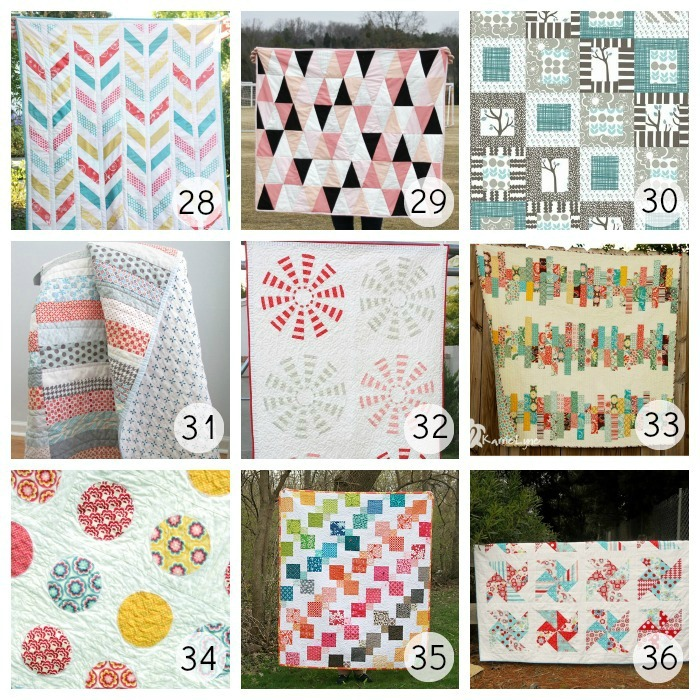 36 Different Free Quilt Patterns