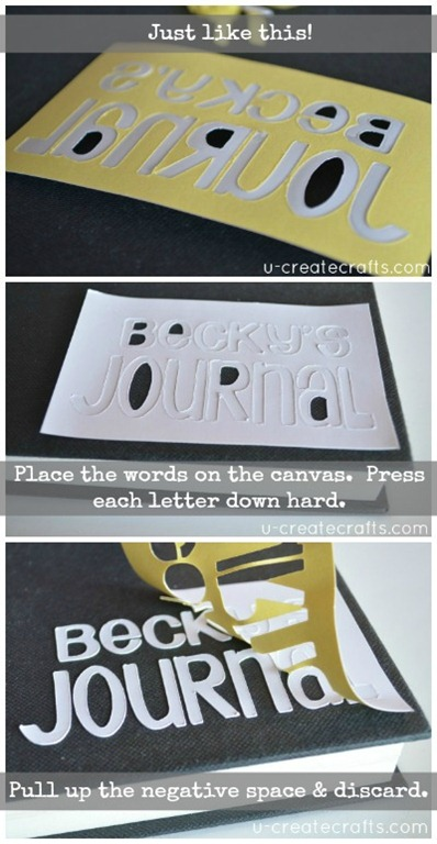 B Personalized Canvas Journal Tutorial