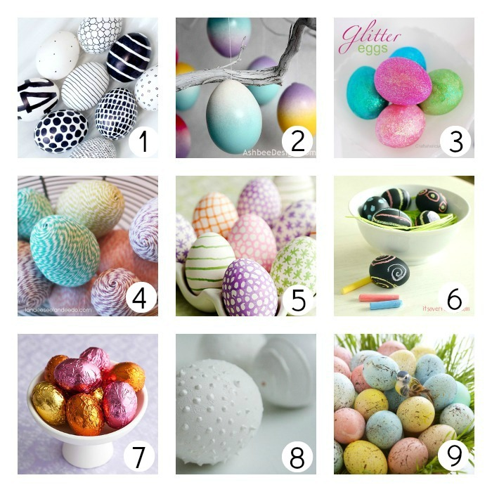 Speckled Eggs. Mix and match contrasting egg and paint colors to create a bright, speckled collection with one of these many Easter egg ideas from Meaghan Mountford. Dye eggs desired colors and let dry completely. Pour a small amount of acrylic craft paint on a piece of .