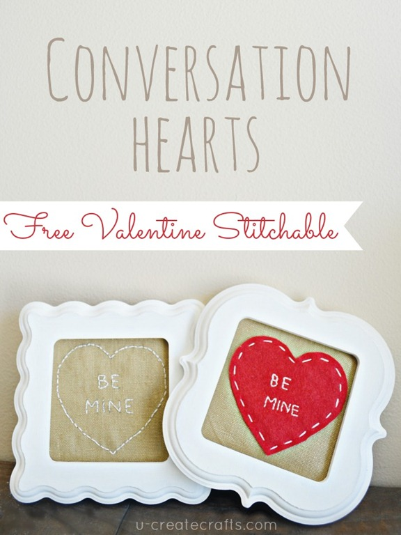 FREE Stitchable: Conversation Hearts Valentine Patterns at u-createcrafts.com