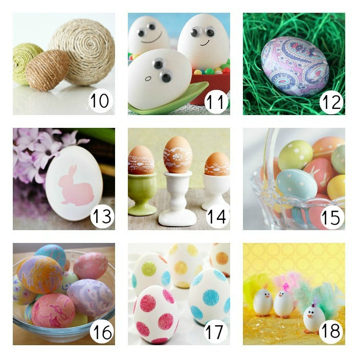 How to Decorate Easter Eggs u-createcrafts.com