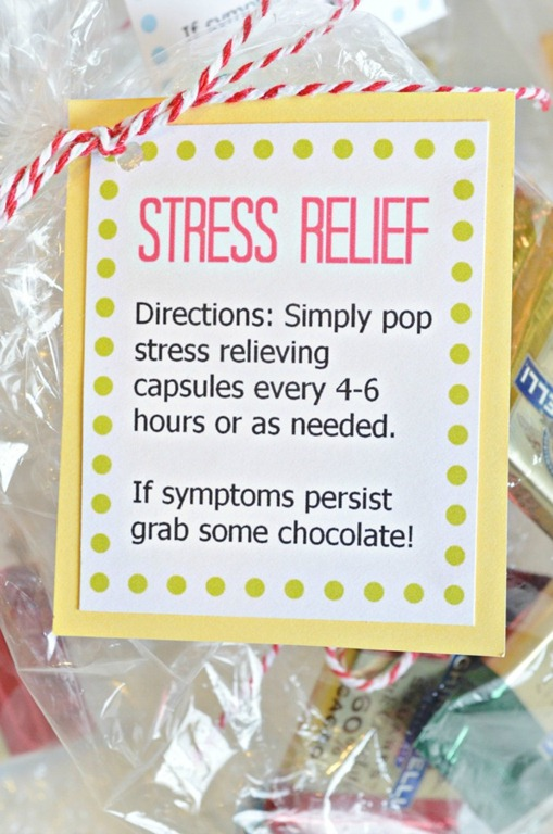 Simple Stress Relief Gift & free printable