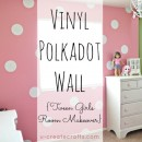 DIY Vinyl Polka Dot Wall and pintucked duvet tutorial