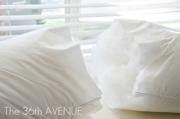 King Size Pillow into Two Throw Pillows by the 36th Avenue!