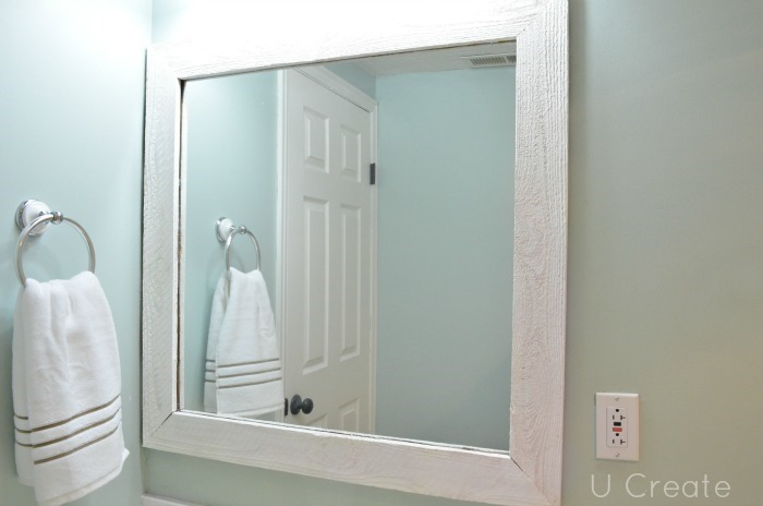How to frame a mirror using a pallet!
