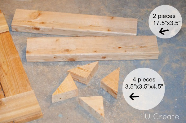 DIY Bathroom Shelf using a pallet by u-createcrafts.com