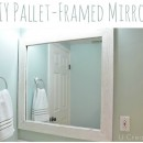 DIY Framed Pallet Mirror by U Create
